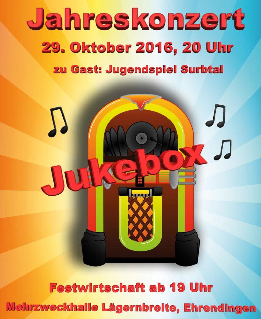 """Flyer Jahreskonzert """"Jukebox"""""""